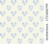farm animals icons pattern....   Shutterstock .eps vector #1721606749