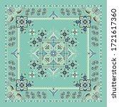 vector ornament paisley bandana ... | Shutterstock .eps vector #1721617360