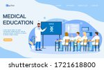 medical conference and... | Shutterstock .eps vector #1721618800