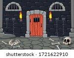 Cartoon Doors Composition With...