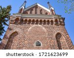 The Church of St. Andrew in Konin, gothic architecture. Poland.