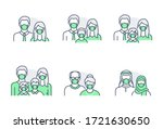 people avatar flat icons.... | Shutterstock .eps vector #1721630650