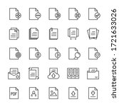 paper and form 25 line icons... | Shutterstock .eps vector #1721633026