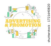 adverting and promotion concept.... | Shutterstock .eps vector #1721640820