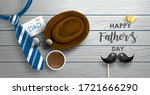 happy father's day poster or...   Shutterstock .eps vector #1721666290