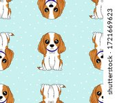 vector seamless pattern with... | Shutterstock .eps vector #1721669623