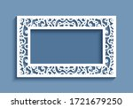 rectangle vector frame with...   Shutterstock .eps vector #1721679250