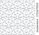cutout paper pattern  seamless...   Shutterstock .eps vector #1721679253