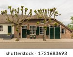 Espalier Trees In Front Of An...