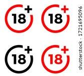 under 18 sign warning symbol....   Shutterstock .eps vector #1721695096