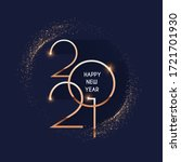 happy new 2021 year  elegant... | Shutterstock .eps vector #1721701930