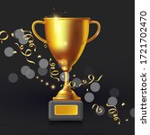 realistic golden champion cup.... | Shutterstock .eps vector #1721702470