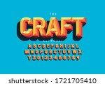 vector of stylized modern font... | Shutterstock .eps vector #1721705410