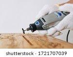 Professional Carpenter Using...