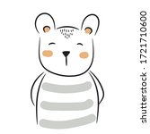 cute doodle bear illustration.... | Shutterstock .eps vector #1721710600