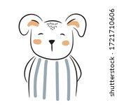 cute doodle puppy illustration. ... | Shutterstock .eps vector #1721710606
