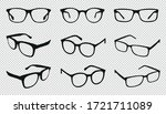 glasses icons   different angle ...   Shutterstock .eps vector #1721711089