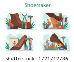 shoemaker concept set. male and ... | Shutterstock .eps vector #1721712736