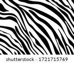 black and white zebra stripes... | Shutterstock .eps vector #1721715769