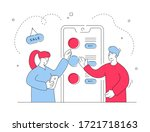 contemporary man and woman... | Shutterstock .eps vector #1721718163