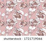 seamless wallpaper pattern.... | Shutterstock .eps vector #1721719066