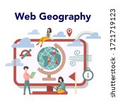 geography online education... | Shutterstock .eps vector #1721719123