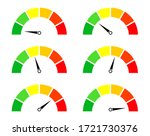 risk meters. gauge and icon of... | Shutterstock .eps vector #1721730376