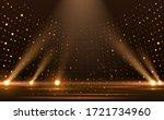gold lights rays scene... | Shutterstock .eps vector #1721734960