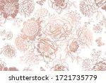 floral seamless pattern. garden ... | Shutterstock .eps vector #1721735779