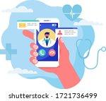 online medicine concept vector... | Shutterstock .eps vector #1721736499