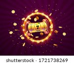 golden slot machine wins the... | Shutterstock .eps vector #1721738269