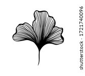 Ginkgo Leaf Ink Line Art Design ...