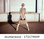Stylish Woman In A Leopard...