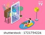 3d isometric flat vector... | Shutterstock .eps vector #1721754226