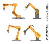 industrial mechanical arms for... | Shutterstock .eps vector #1721762083