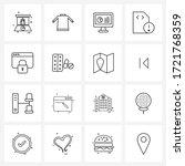 mobile ui line icon set of 16...