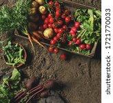 fresh vegetables  potato ... | Shutterstock . vector #1721770033