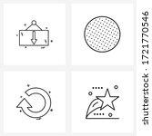 stock vector icon set of 4 line ...