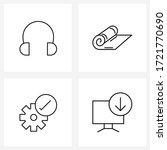 modern style set of 4 line... | Shutterstock .eps vector #1721770690