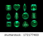 group of emerald shape with... | Shutterstock . vector #172177403