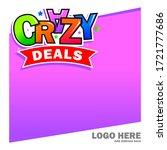 crazy deals design template or... | Shutterstock .eps vector #1721777686