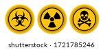 warning sign on white background | Shutterstock .eps vector #1721785246