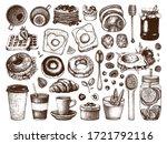 breakfast dishes vector... | Shutterstock .eps vector #1721792116