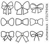 decorative bows vector icon set.... | Shutterstock .eps vector #1721793436