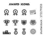 award icons  mono vector symbols | Shutterstock .eps vector #172179353