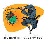 japan victory in the epidemic...   Shutterstock .eps vector #1721794513