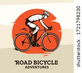vector road biking illustration ... | Shutterstock .eps vector #1721798230