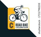 vector road biking badge  logo... | Shutterstock .eps vector #1721798233