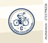 vector road bike cycling club... | Shutterstock .eps vector #1721798236