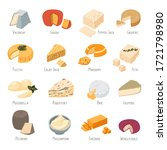set of cheese types and names ... | Shutterstock .eps vector #1721798980